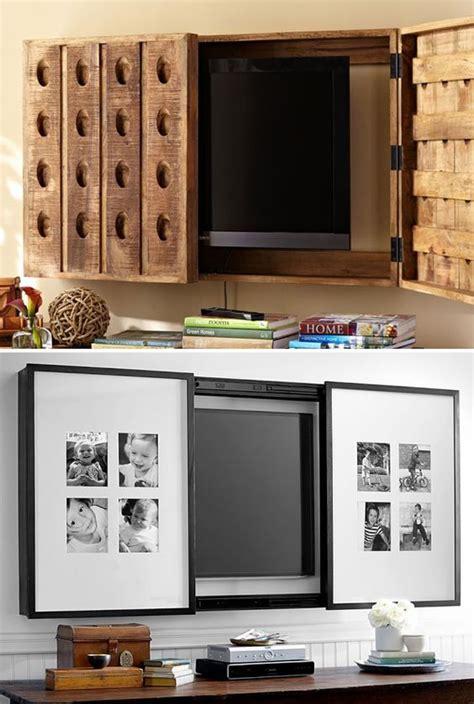 ideas ingeniosas  esconder el tv