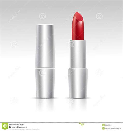 imagenes lapiz labial l 225 piz labial rojo del vector en el fondo blanco im 225 genes