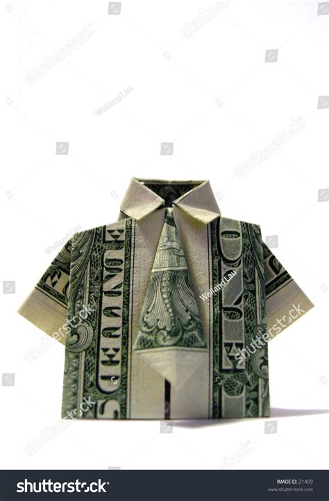 Dollar T Shirt Origami - american one dollar bill folded origami style into a t