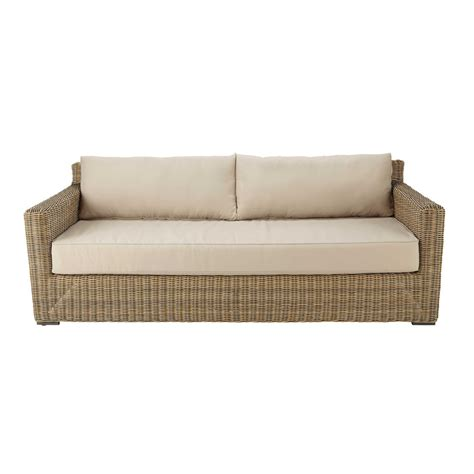 divano da giardino divano da giardino in resina intrecciata e tessuto color