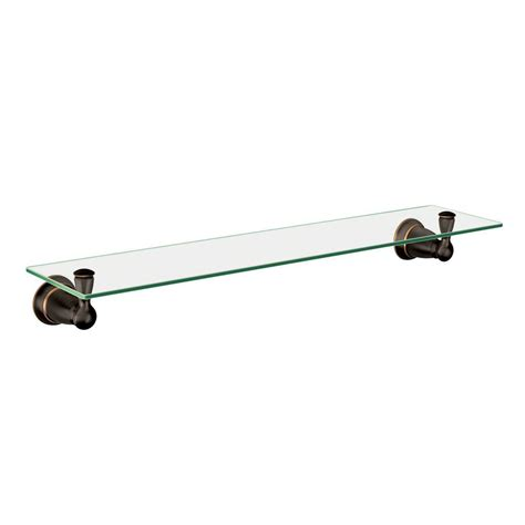 Moen Glass Shelf by Moen Banbury 5 4 25 In L X 3 In H X 22 3 4 In W Wall