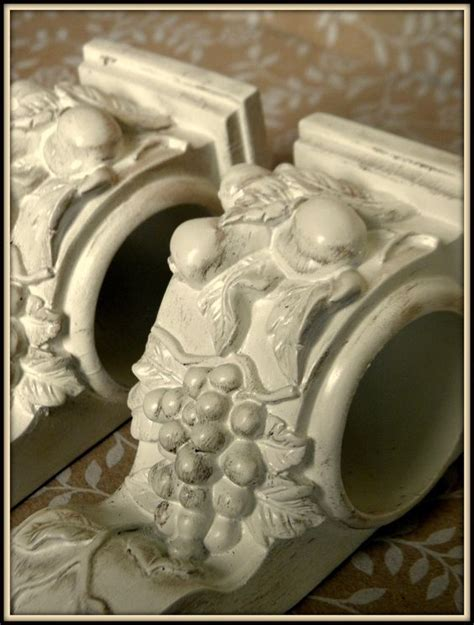 i need to use the bathroom in french set of 2 shabby french cottage chic drapery wall sconce shelf curtain rod holder scarf