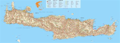 crete map crete maps print maps of crete map of chania or heraklion