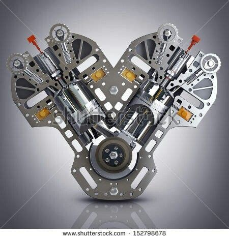 Car Engine Types V8 by V8 Car Engine Concept Of Modern Car Engine High