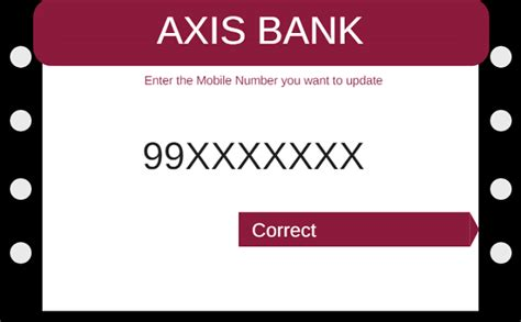 axis bank number change update axis bank registered mobile number