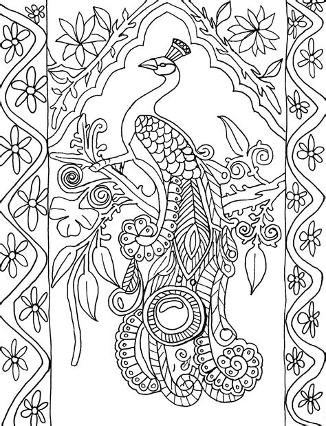 coloring book for adults india coloring page world peacock patterns of india