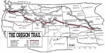 oregon trail on a map maps related to george washington bush