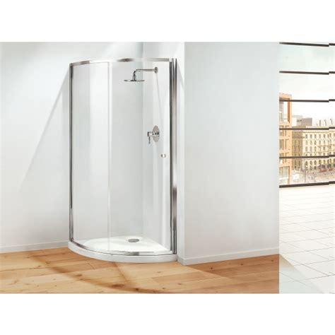 Plain Glass Door Coram Premier Sliding Crescent Door 850mm Plain Glass Chrome