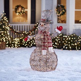 lowes grapvine snowman outdoor and yard decorations