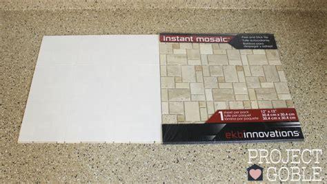 Adhesive Backsplash Tiles For Kitchen how to install a peel amp stick mosaic tile kitchen