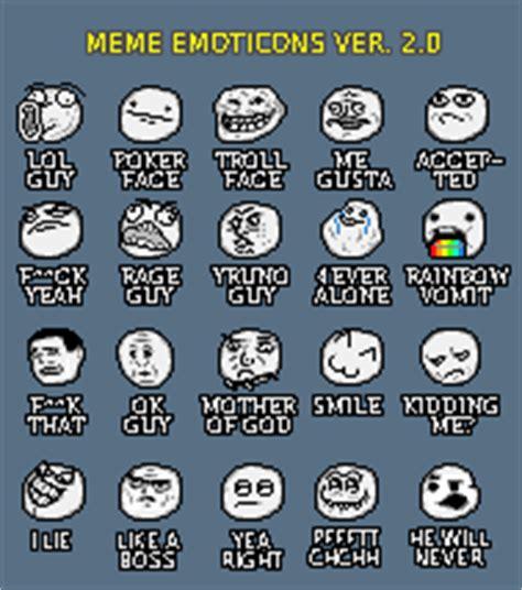 Meme Emoticons Text - meme emoticons ver 2 0 pixeljoint com