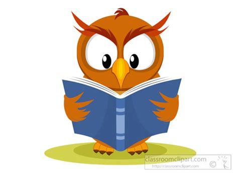 owl reading book child walking away clipart www pixshark com images