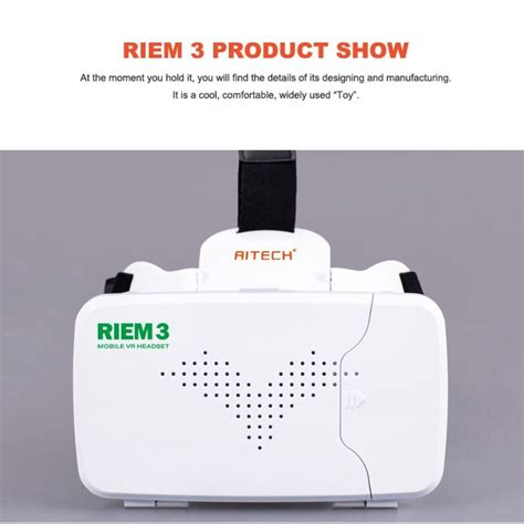 Ritech Riem 3 Vr Cardboard 3d Reality 3rd Generation 1 ritech riem 3 vr reality headset bluetooth remote