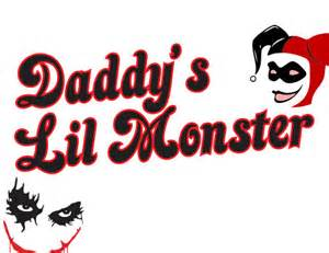 Make Your Own Wall Stickers Quotes svg file daddys lil monster harley quinn svg download cutting