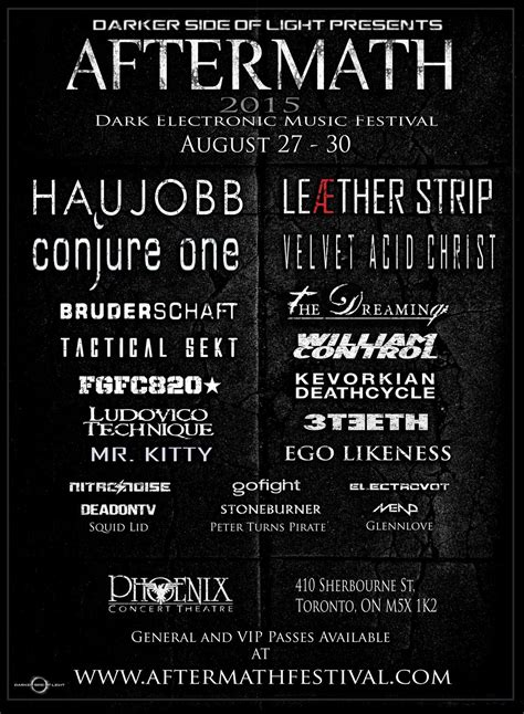 Aftermath Festival Invading Toronto This August