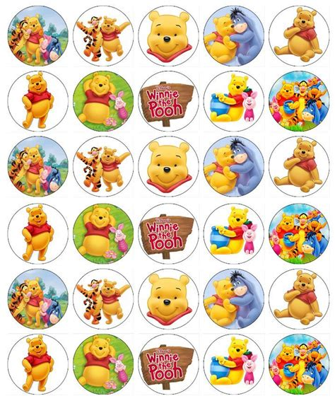 Wall Sticker Wall Stiker Wallsticker Dinding 152 Pooh Family 30 x winnie the pooh cupcake toppers edible wafer paper cake toppers cakes wafer