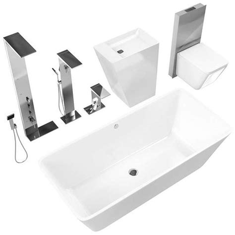 White Bathroom Fixtures by White Bathroom Fixtures 3d Cgtrader