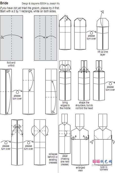 How To Make An Origami Person - joseph wu新郎与新娘折纸教程图解 人物折纸 折纸教程 二 晒晒纸艺网