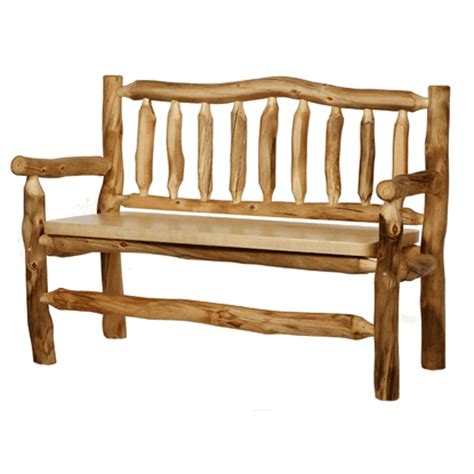 log benches with backs colorado aspen bench w back arms
