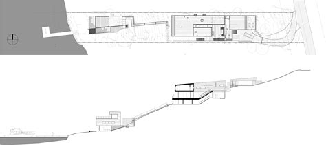 steep site house plans showcase courtyard house on a steep site features
