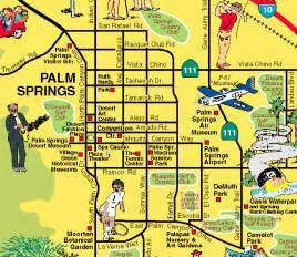 palm springs map map