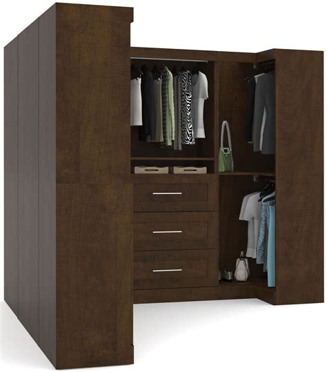 Coleman Wardrobe by Pur Chocolate 100 Quot Optimum L Shaped Wardrobe From Bestar