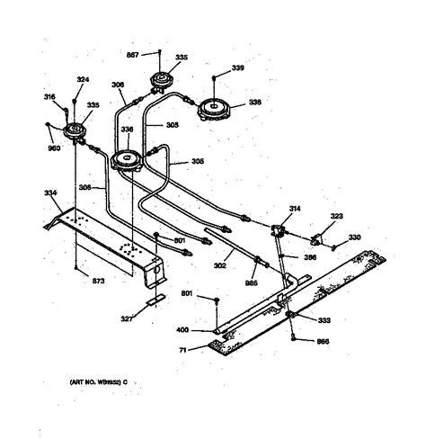 ge electric range parts diagram general electric jgsp31wetww gas range timer stove