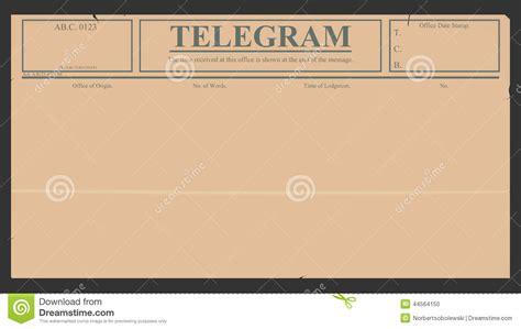 telegram template telegram stock vector image of frame card letter