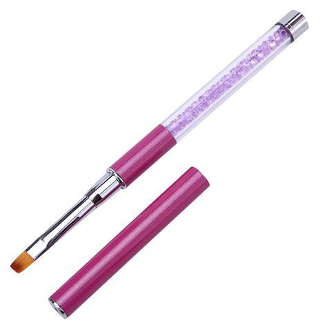 Sale Uv Gel Brush Rhinestone 3pcs set salon pro nail phototherapy pen brush rhinestone metal acrylic handle uv