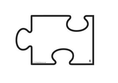 giant blank puzzle pieces clipart best