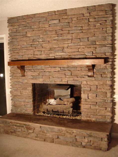 brick stone fireplace