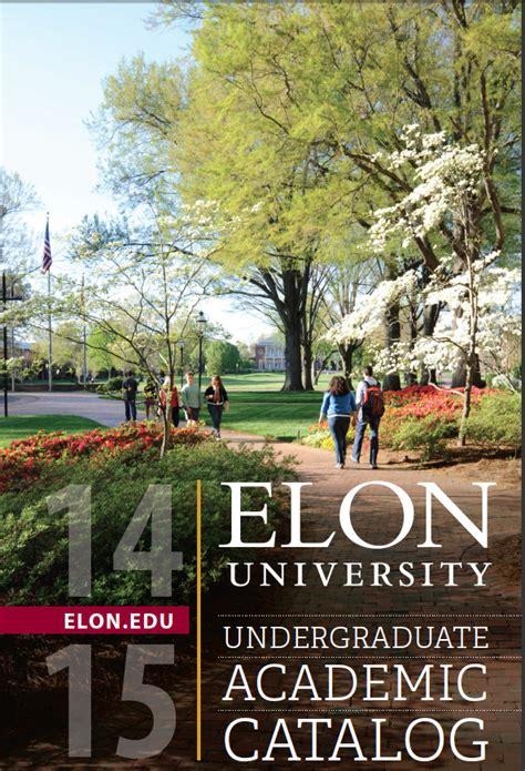 Elon Academic Calendar Elon Academic Catalog
