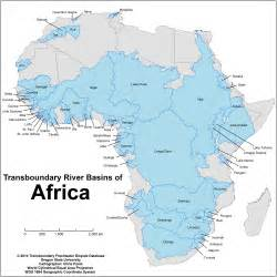 Africa River Map by Database Water Conflict Management And Transformation At Osu