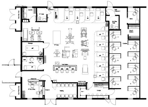 physical therapy clinic floor plans medical center of the palm beaches forest hill physical therapy david porter associates