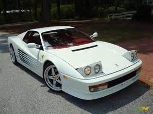 White Testarossa Bianco White 1991 Testarossa Standard Testarossa