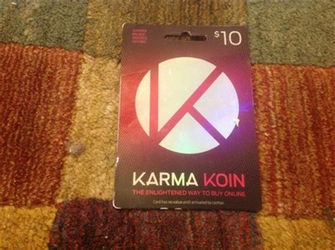 Karma Koin Gift Card - free 10 karma koin gift card code gift cards listia com auctions for free stuff