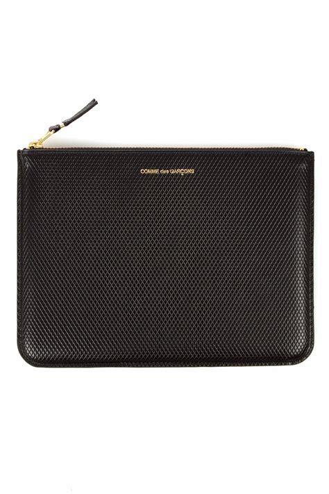 Comme De Garcons Knot Handbag Wallets by Comme Des Garcons Luxury Clutch Wallet Black Sa5100lg