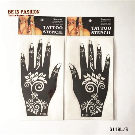 cheap henna tattoo kits wholesale henna stencils airbrush stencil glitter