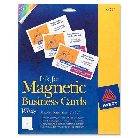 Staples Inkjet Business Cards Template by Avery Business Card Ld Products
