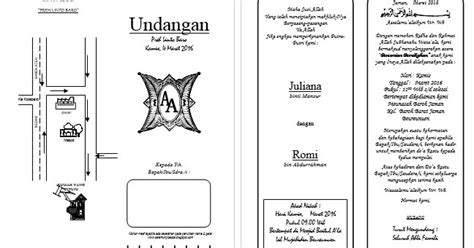 template undangan illustrator download desain undangan pernikahan format word