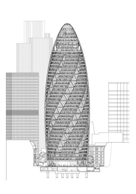 30 St Mary Axe, Swiss Re Headquarters > Foster + Partners