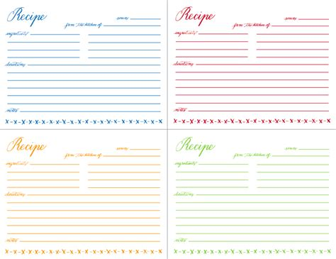 free printable picture recipes mamie s recipe card free download avie designs
