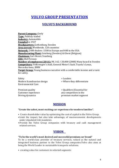 report  volvo marketing strategy