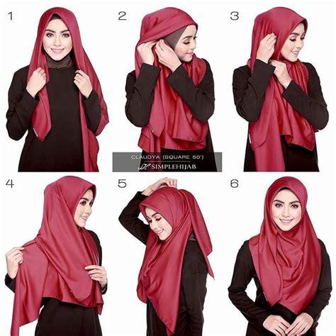 gambar tutorial jilbab syar i 25 inspirasi tutorial hijab segi empat terbaru 2018