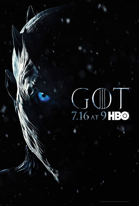 Of Thrones Nights photo of thrones season 7 poster the king