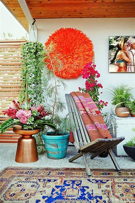 bohemian eclectic outdoor design boho patio bohemian