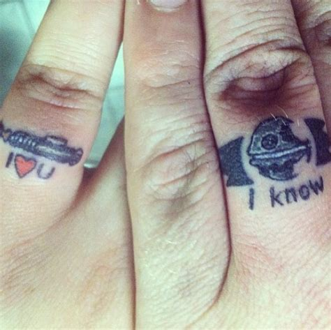 romantic couple tattoos wedding band tattoos for couples