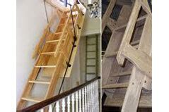 Timber Loft Ladders With Handrails surrey loft ladders loft ladders