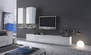 ensemble meuble tv blanc laqu design abibo