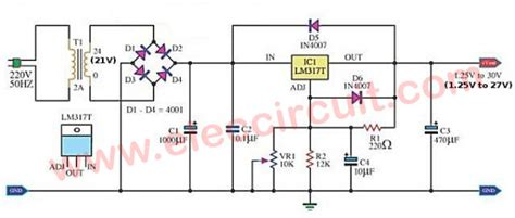 circuit diagram of variable power supply my variable power supply using lm317 elec circuit